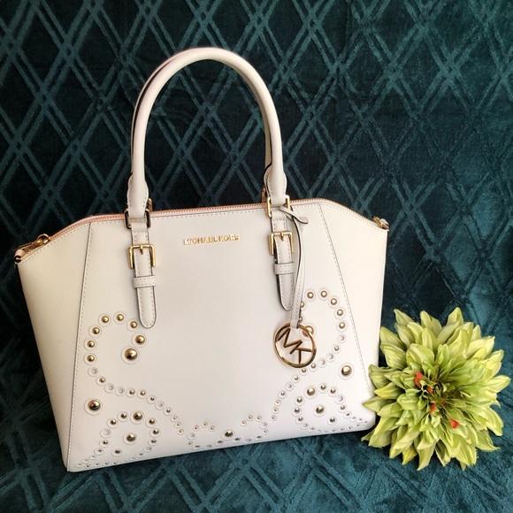 Michael Kors Handbags - ⭐️Michael Kors Ciara Lg Tote Leather Cross Body